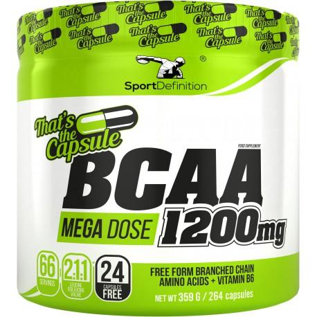 BCAA Mega Dose 1200mg 264 kaps