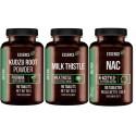 Zestaw na zdrową wątrobę - NAC + Korzeń Kudzu + Ostropest Plamisty