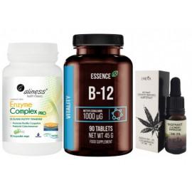 Pobudzenie apetytu - Witamina B12 + Olejek na apetyt + enzymy trawienne