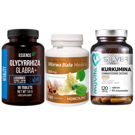 Na cukrzycę - Morwa biała + Kurkumina + Lukrecja