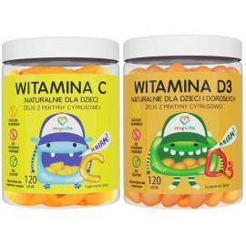 Żelki na odporność dla dzieci - Witamina D3 + Witamina C